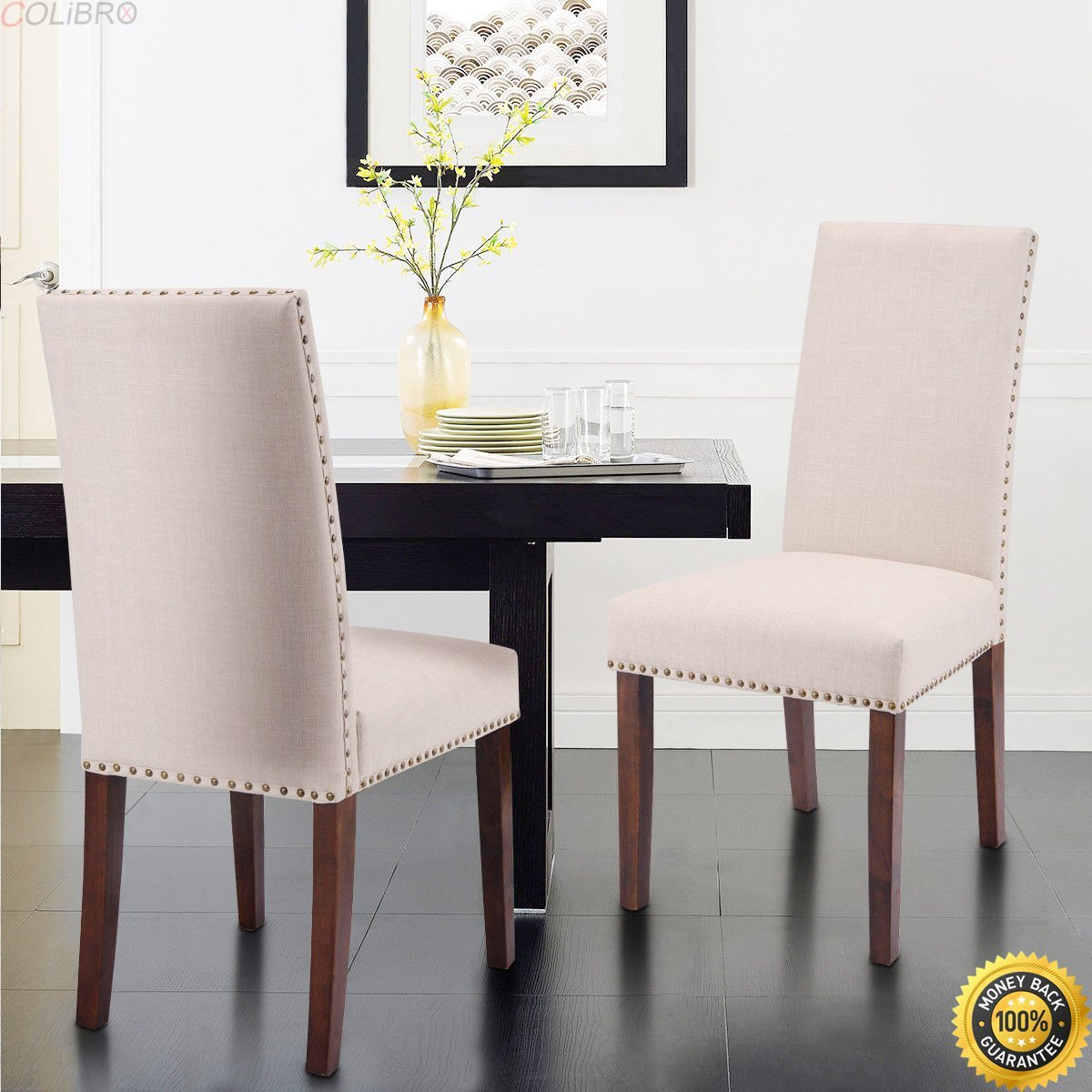 Buy Colibrox Set Of 4 Fabric Cushion Seat Accent Arm Chair Dining Chair Metal Leg Living Room Side Dining Chair Upholstered Dining Chairs Set Of 4 Living Room Accent Chairs Amazon Dining Room Chairs In Cheap
