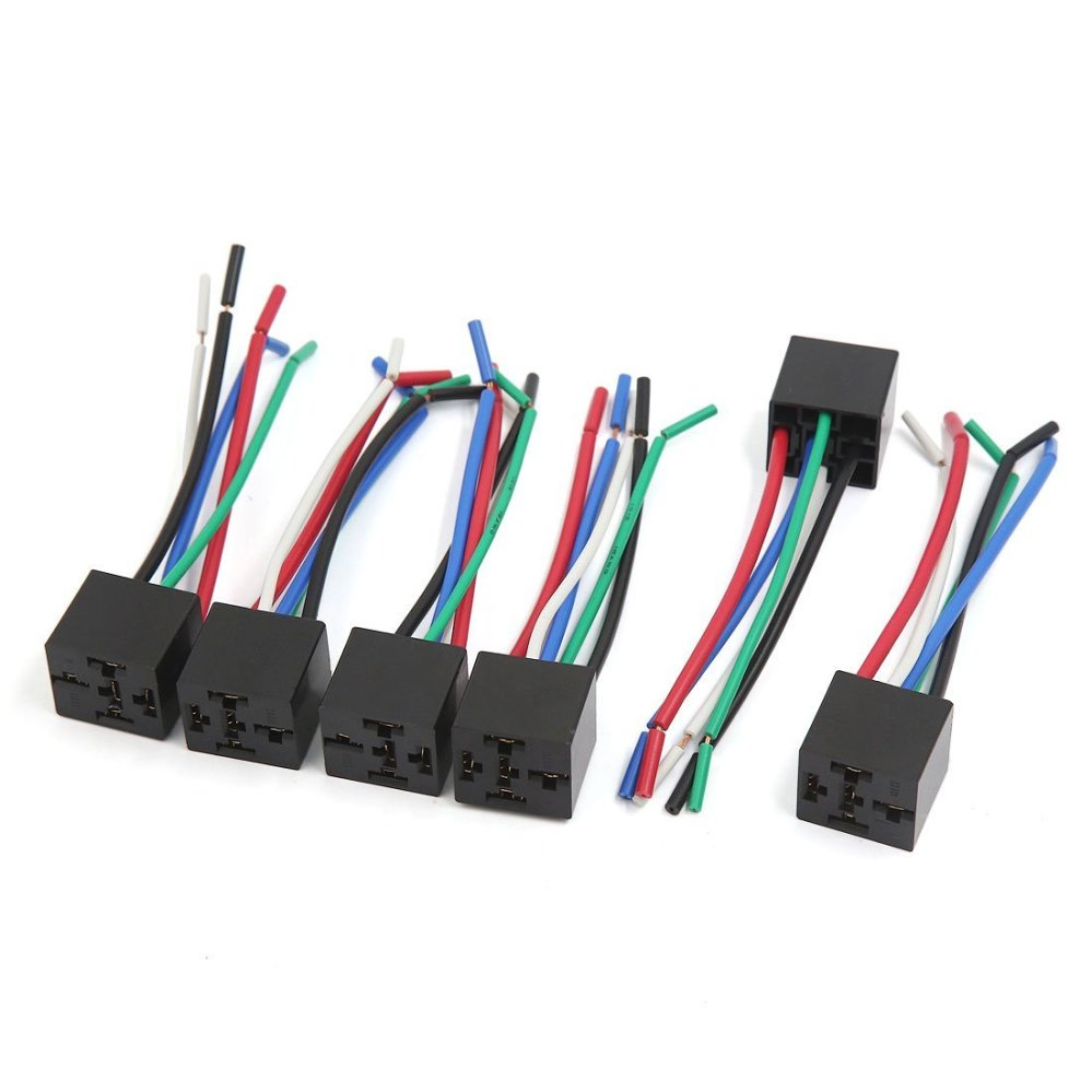 medium resolution of uxcell 6pcs 5 pin plastic window lifter push button switch wire wiring harness cable for car