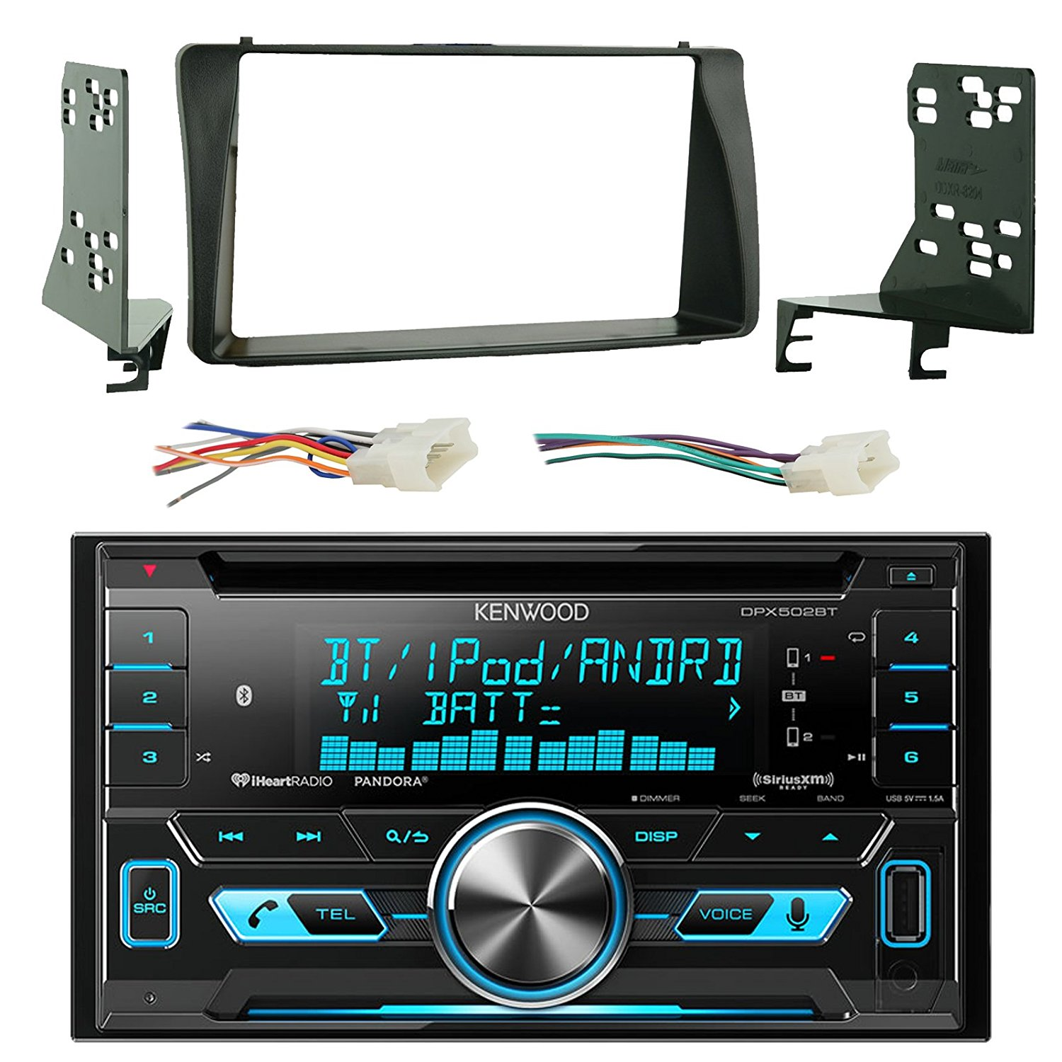 hight resolution of get quotations kenwood dpx502bt double din bluetooth cd mp3 player stereo receiver bundle combo with metra 2