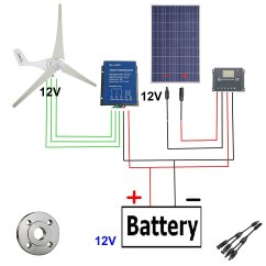 Solar Controller Wiring Diagram Panel Charge Anonymerfo 2008 Cobalt Lt Radio Diy Wind Turbine Diagrams Library And Electrical Schematics Get Quotations 500w Power Ac 12v 400w Generator Kit