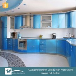 Acrylic Kitchen Cabinets Images Of Remodeled Kitchens Indian Self Assemble Curved Design With Bright Color