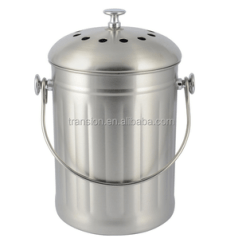 Compost Bin For Kitchen Craftsman Style Cabinet Doors 1gallon Indoor Stainless Steel Warm Pail With Lid Including Two Charcoal Filter Crock Buy 1 Gallon