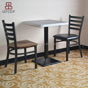restaurant tables and chairs wholesale hanging chair pink uptop fast food wooden for in china