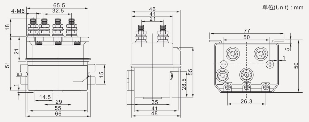 12v Dc Relay For Motor Reversing Used In Electric Forklift