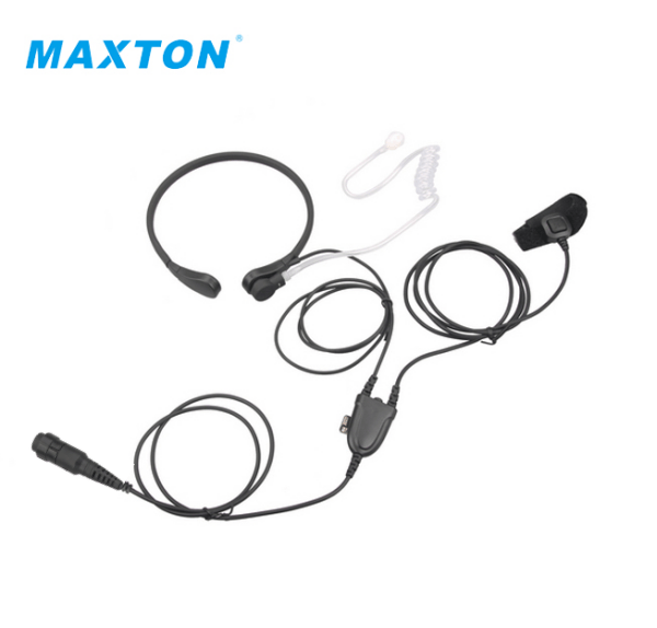 Maxton 2 Wire Throat Microphone With Vox Control Finger