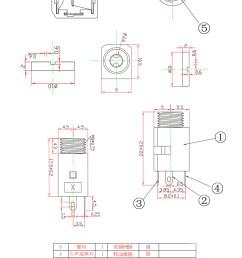 pj342 3 5mm 3 pin pcb mount jack socket smt stereo jack [ 790 x 1200 Pixel ]