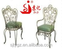 Classical Indoor Wrought Iron Chairs Included Cushion ...