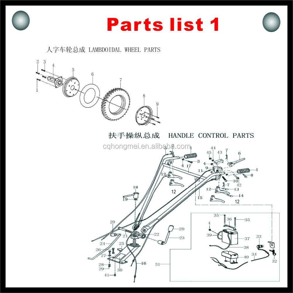 Diesel Tiller/agric Tiller/agriculture Rotary Tiller Parts