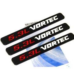 get quotations yoaoo 3x oem black 5 3l vortec hood 5 3 l emblems engine 3d badge silverado z71 [ 1017 x 1001 Pixel ]