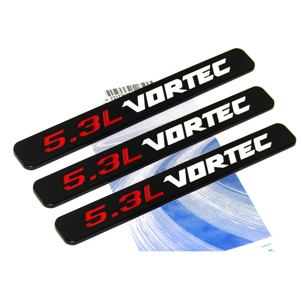 hight resolution of get quotations yoaoo 3x oem black 5 3l vortec hood 5 3 l emblems engine 3d badge silverado z71