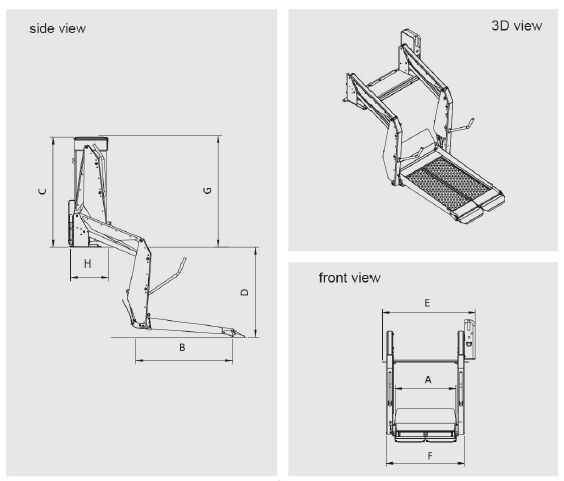 WL-D-880S wheelchair lifts for mobility wheelchair