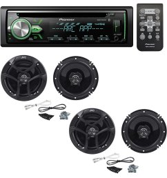 get quotations pioneer deh x4900bt cd receiver with 2 pairs jvc cs j620 300w [ 1000 x 1000 Pixel ]