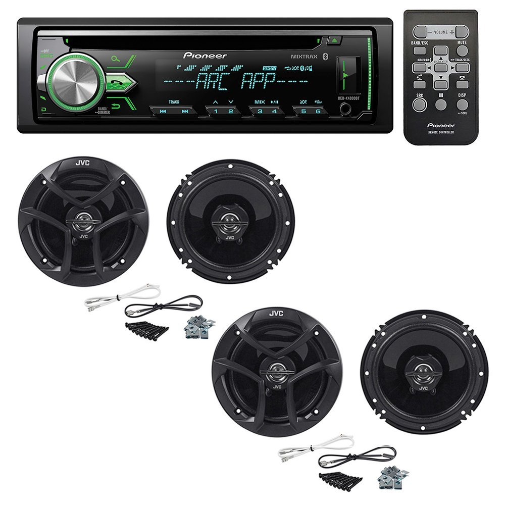 hight resolution of get quotations pioneer deh x4900bt cd receiver with 2 pairs jvc cs j620 300w