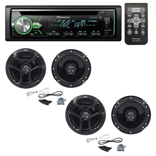 small resolution of get quotations pioneer deh x4900bt cd receiver with 2 pairs jvc cs j620 300w