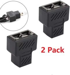 get quotations jahyshow rj45 splitter adapter rj45 female 1 to 2 dual female port lan ethernet network [ 1000 x 1000 Pixel ]