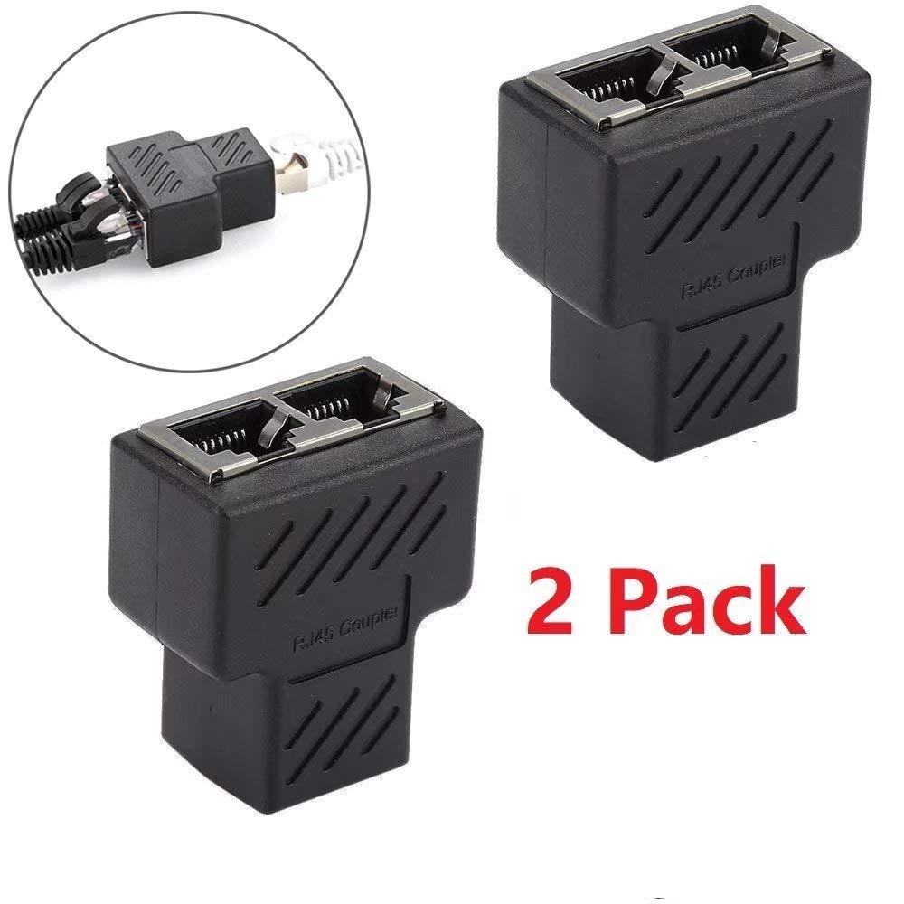 medium resolution of get quotations jahyshow rj45 splitter adapter rj45 female 1 to 2 dual female port lan ethernet network