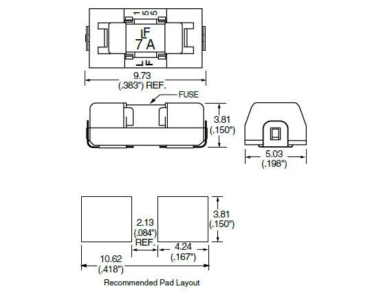 Littelfuse 01550900m 6.1*2.7mm Smd Fuse Holder For 2410