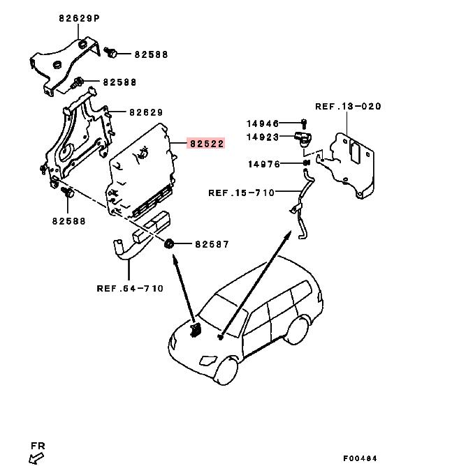 Unité De Commande Du Moteur Pour Mitsubishi Asx Ga2w 4b11