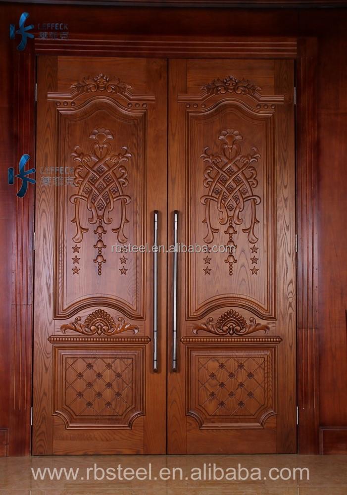 Lujo madera de la puerta principal diseo tallado, tallado