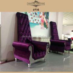 Alibaba Royal Chairs Unique Rocking Purple Design Bar Chair Wedding Throne Love Seat