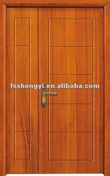 Simple Exterior Wooden Double Door Designs