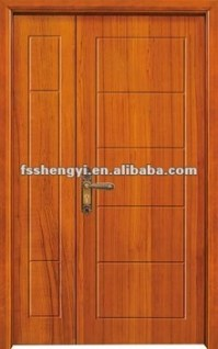 Simple Exterior Wooden Double Door Designs