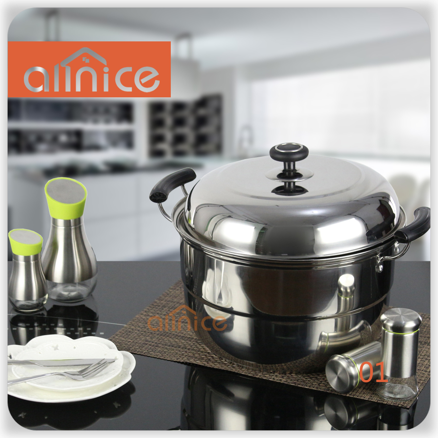 steamer kitchen stainless steel countertops utensil vegetable food steam pot