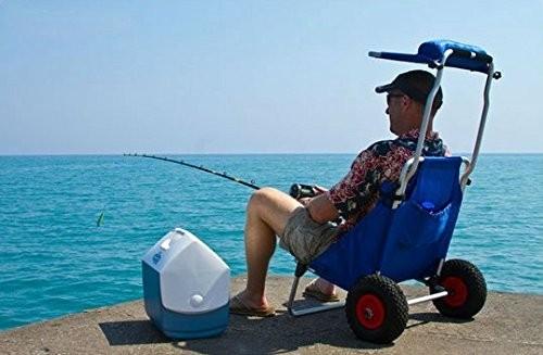 Strand Winkelwagen Vouwen Aluminium Vissen Vouwen