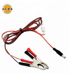 12v dc plug connection wire with alligator clip red black manufacture [ 1000 x 1000 Pixel ]
