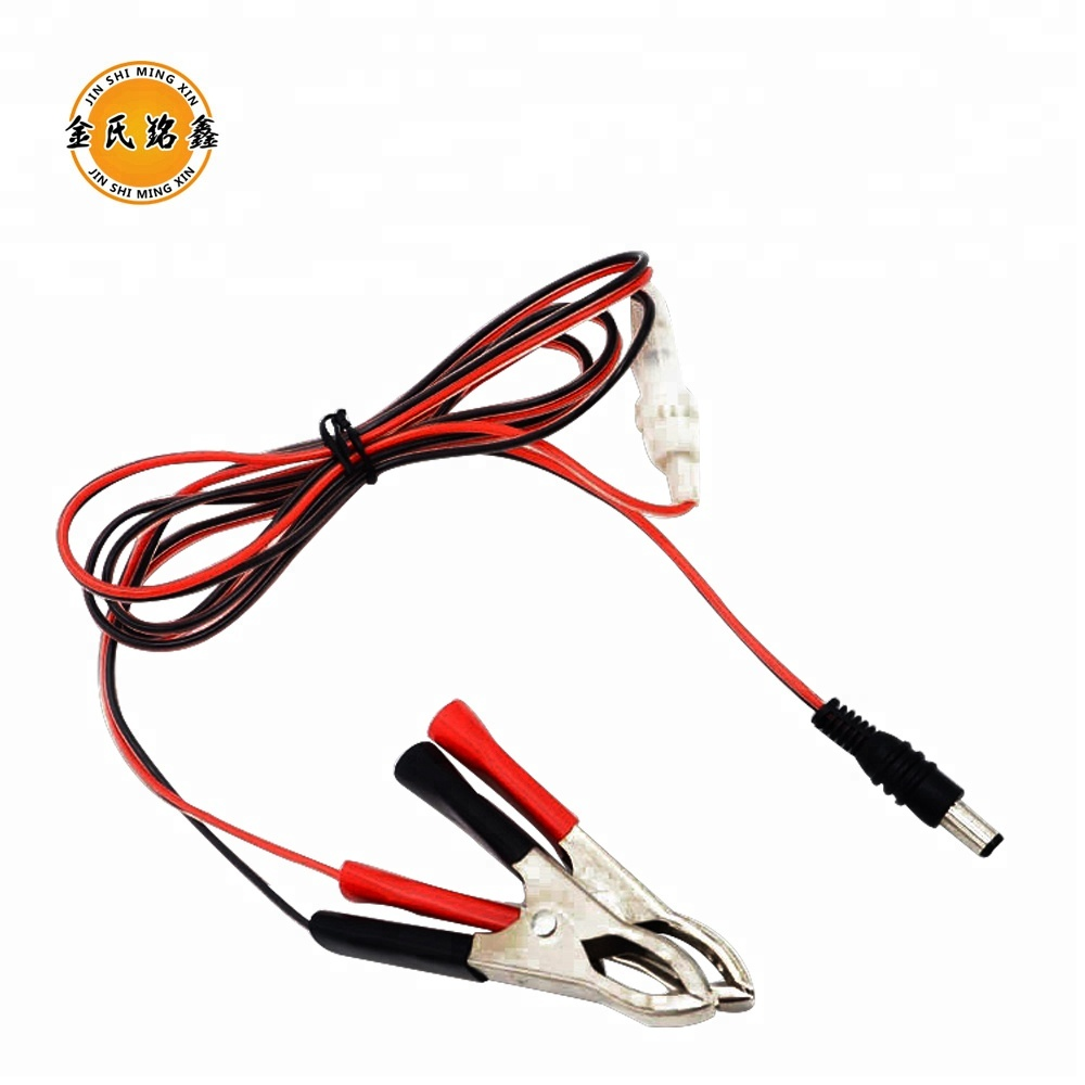 hight resolution of 12v dc plug connection wire with alligator clip red black manufacture