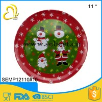 "Cheap 11"" Round Melamine Plates Bulk With Christmas Party"