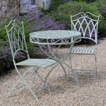 Outdoor Sage Green Folding Wrought Iron Pro Garden