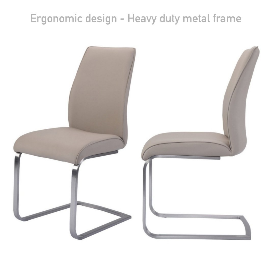 modern steel chair design folding table and chairs set cheap find deals on line at get quotations ergonomic dining solid stainless legs high density padded cushion leather accent back