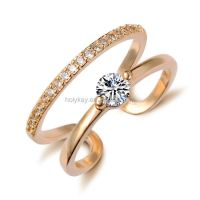 Alloy Female Adjustable Gold Diamond Engagement Ring - Buy ...