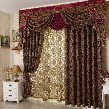 bohemian living room style furniture sets china arabic curtains jacquard custom for home ...
