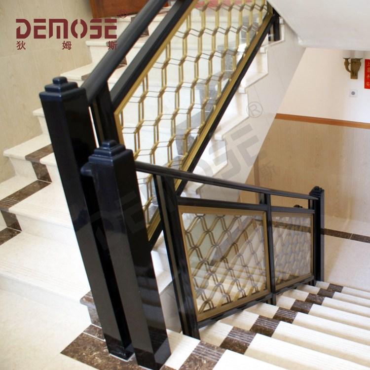 Simple Wrought Iron Interior Stair Railing Design Buy Interior | Interior Stairs And Railings | Traditional | Living Room | Crystal | Rectangular Tube | Inside
