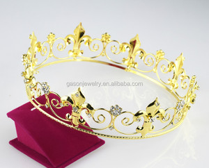gold pageant crown for