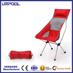 Lightweight Folding Chairs Hiking Orange Stackable High Quality Camping Beach Chair Outdoor Leisure 600d Oxford Fabric For