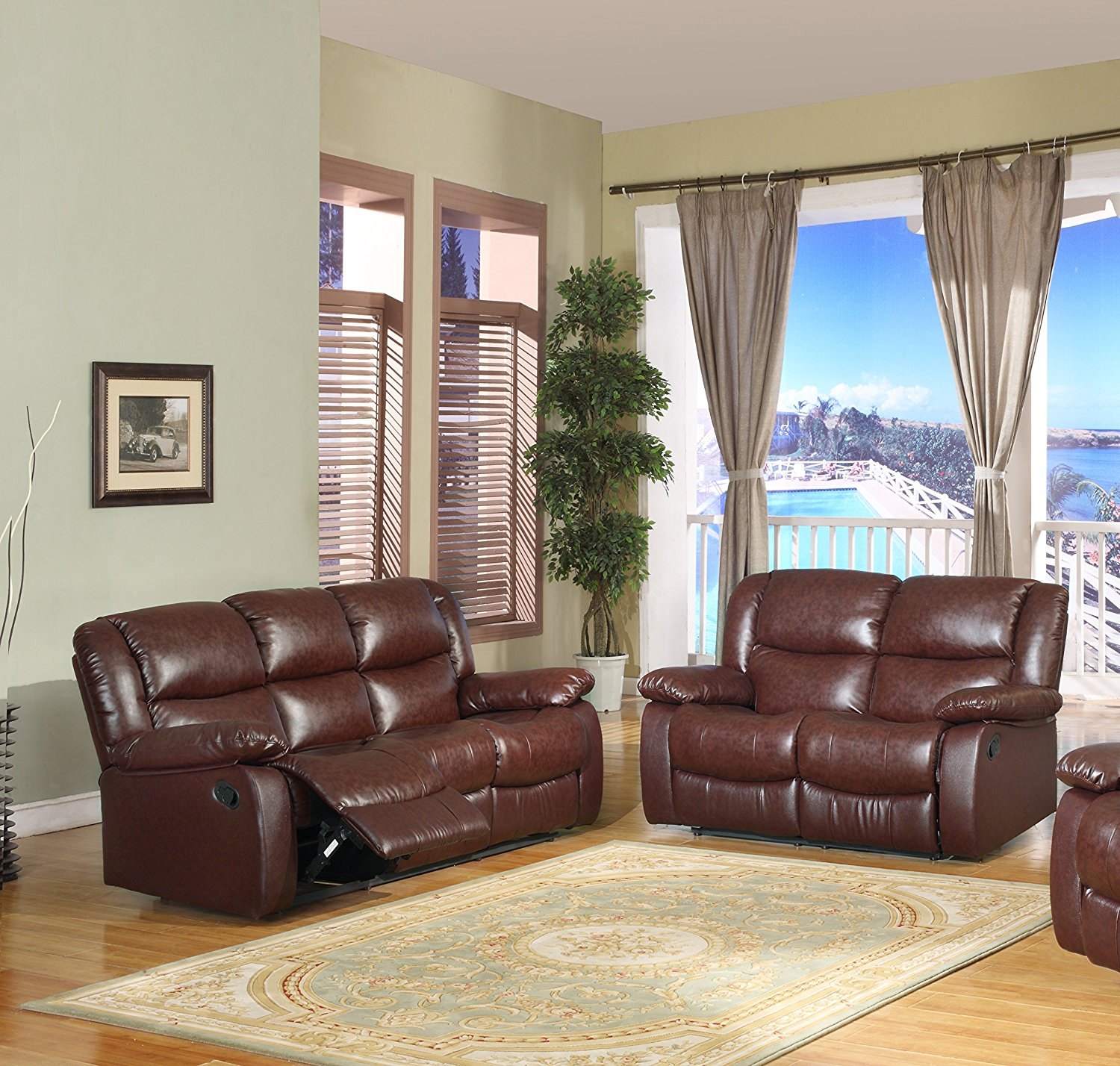 brooklyn bonded leather lounger chair and ottoman orange ghost cheap merlot find deals on line at alibaba com get quotations upholstered motion living room set loveseat sofa