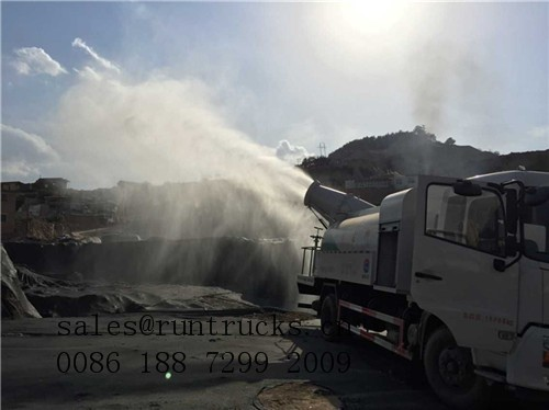 newly desighed multifunctional dust control truck/dust suppression truck with water cannon- hubei runli truck