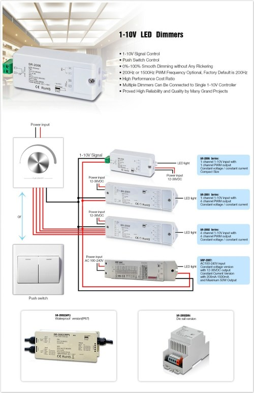 small resolution of 0 1 10v led dimmer wire diagram with push button