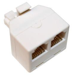 get quotations rocketbus rj11 plug 1 to 2 dual phone line splitter wall jack split into two modular [ 1500 x 1390 Pixel ]