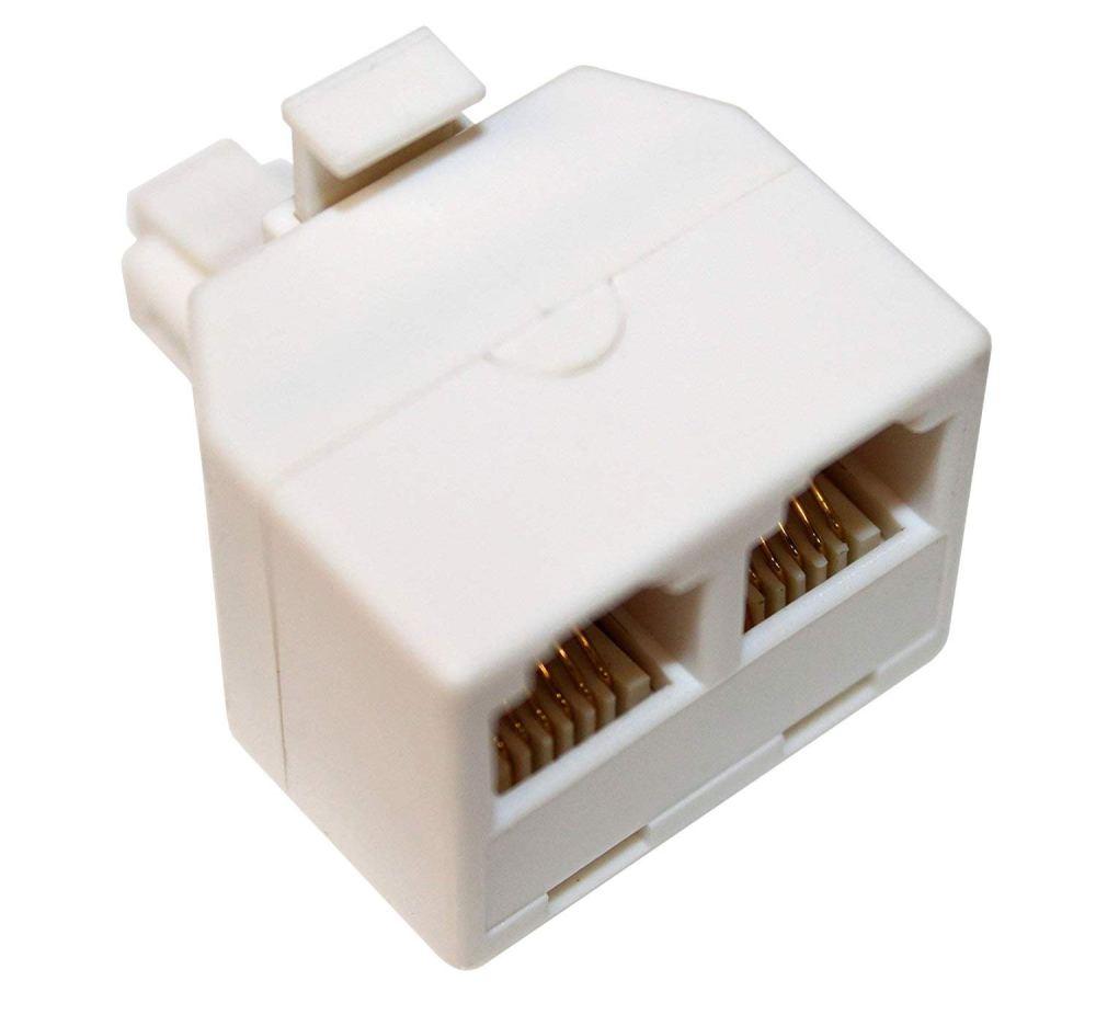 medium resolution of get quotations rocketbus rj11 plug 1 to 2 dual phone line splitter wall jack split into two modular