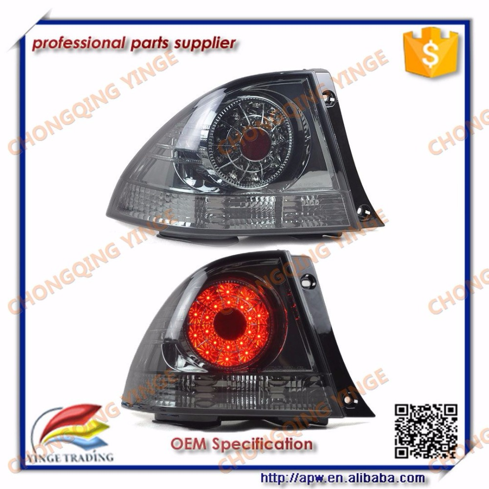 hight resolution of 1998 2005 lexus is200 is300 led tail lamp parts rear lights black smoke color