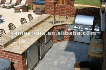 bbq kitchen upper cabinets granite countertop for outdoor buy product on alibaba com