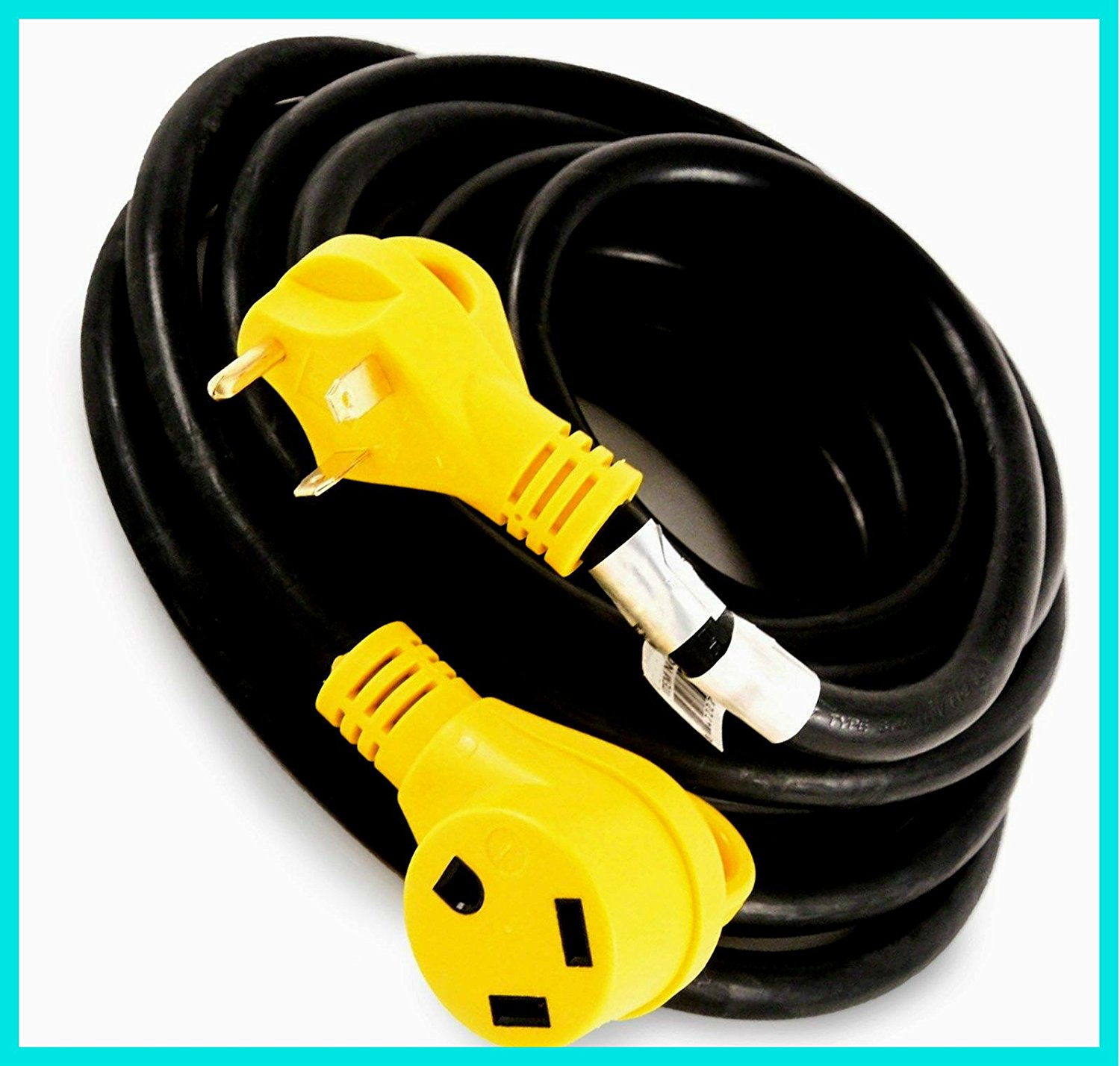 hight resolution of power adapter cable extension cord 100 copper wiring 30a trailer camper 25 ft 30 amp