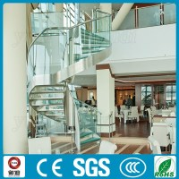 Modern Commercial Hotel Glass Curved Stairs Price - Buy ...