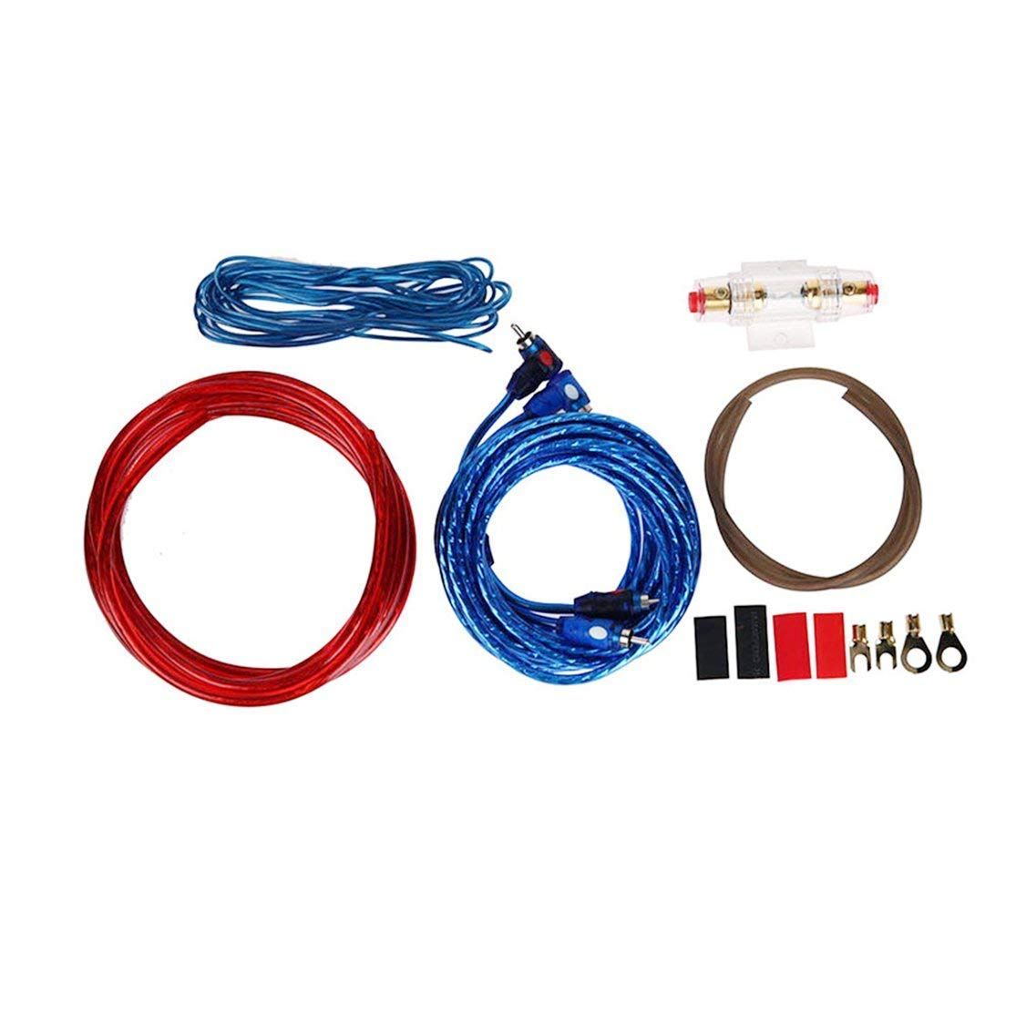 hight resolution of get quotations bunner 1 set car audio connected 8 gauge amp wire wiring amplifier subwoofer speaker