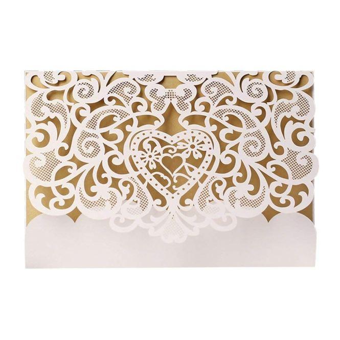 Adarl Laser Cut Invitations Cards Hollow Fl Design