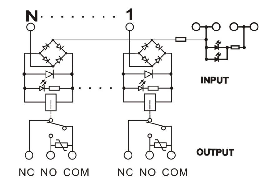 GEYA NG2R 4 Channel Relay Module 1NO 1NC Relay SPDT Module